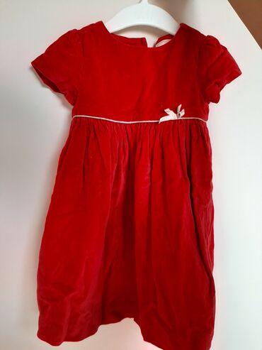Plac - Srbija: Plišana haljinica JohnLewis, veličina od 9 - 12 meseci, jednom obučena