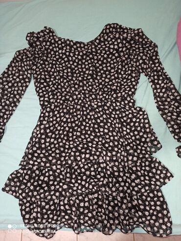 Φόρεμα ασπρόμαυρο με σχέδιο medium/large