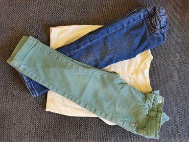 Dečije Farmerke i Pantalone | Sremska Kamenica: 2 x farmerke 12m + džemper f&f 9-12 meseci = 1000 rsd