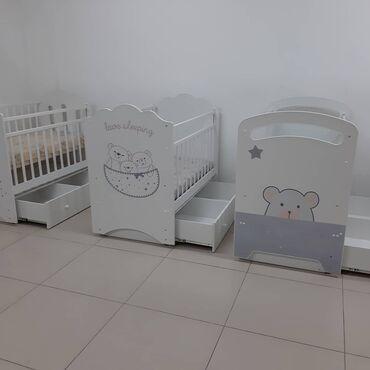 Детская мебель - Цвет: Белый - Бишкек: Детские кроватки манеж Производство Россия Размер 120*60 Цена 6500 сом