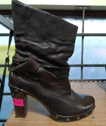 Женская обувь - Кыргызстан: Ботильоны Италия,кожа, размер 39, очень удобные