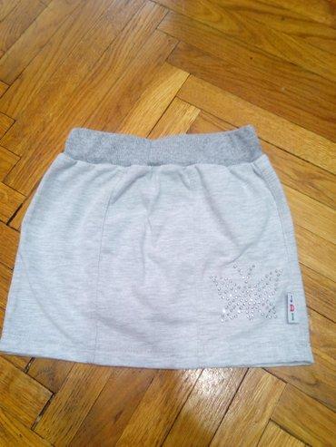 Nova suknja, velicina 4. Rastegljiva, mekana, pamucna suknjica. Sirina - Belgrade