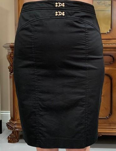черная юбка карандаш в Кыргызстан: Юбка черная, классическая карандаш,итальянская, LUISA SPAGNOLI, б/у