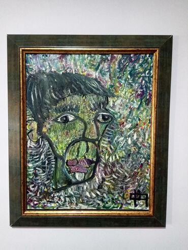 Haljina-ruze - Srbija: 'Portret1', 50x40cm, sa ramom 61x51cm. Ulje na platnu. Moj rad(Filip
