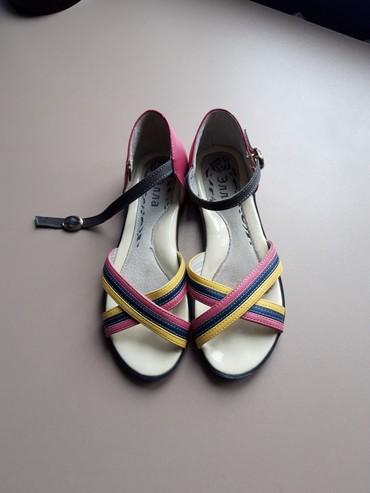 Женская обувь в Токмак: Дёшево! Кожаные босоножки. Размер 35 (маломерки). На узкую ножку либо