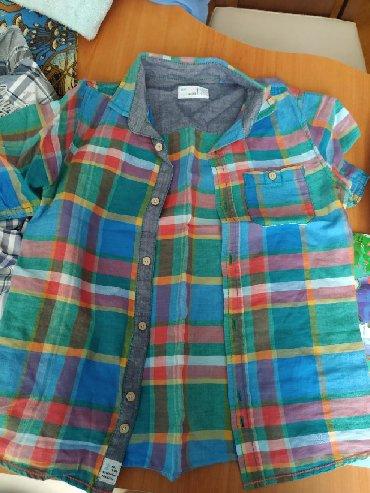 детская джинсовая рубашка в Азербайджан: Детские брендовые рубашки почти новые по 5 ман