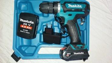 Odvijači | Srbija: Makita aku šrafilica 26V/4.0Ah, novo, u koferu sa 2 baterije i