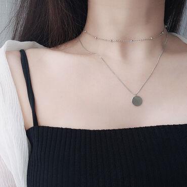 Ожерелье из серебра 925 пробы ручной работы круглое. Цвет