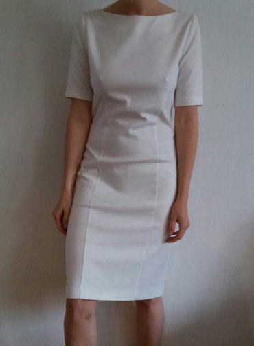 Bela haljina, jednom obucena, velicina: L - Borca