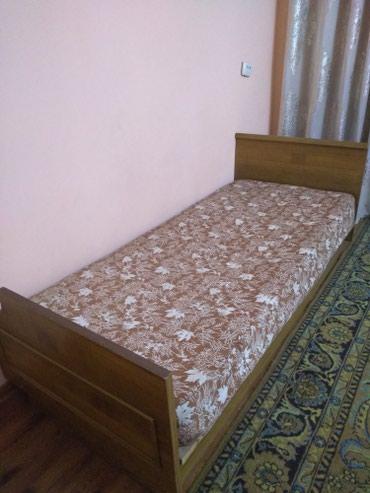 Кровать односпальная.Состояние хорошее.(с матрасом) Б/У в Бишкек