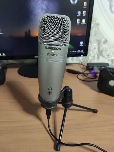 Студийные микрофоны - Кыргызстан: Продаётся! USB студийный конденсаторный микрофон!Samson C01U pro В