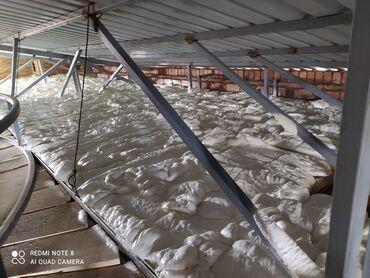 Услуги - Каракол: Утепление потолка пенополиуретаном. #ППУ #теплопена #термопена