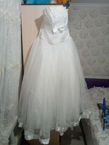 Свадебное платье одевали один раз очень счастливое! Размер от 48 до 52