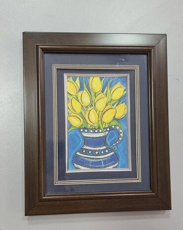 Картина декоративная под стеклом, для украшения помещения, размер 22
