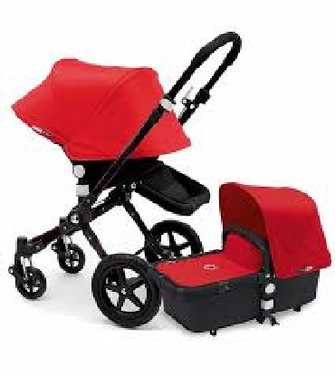 Bugaboo Chameleon3, colour red with the following Bugaboo accessories