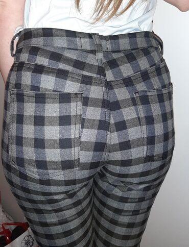 Pantalone tally weijl sa elastinom - Srbija: Tally Weijl karirane pantalone Broj: 38 Nove 1000 dinara