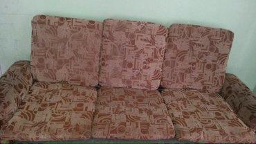 Диваны в Кыргызстан: Продаю раскладной диван с 2 - мя креслами б.у. Большое спальное место