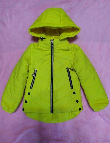 одежды в Кыргызстан: Куртка на девочку с 3 до 4 лет, состояние нового, капюшон
