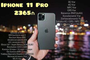 ayfon s5 - Azərbaycan: Yeni IPhone 11 Pro 256 GB Qara