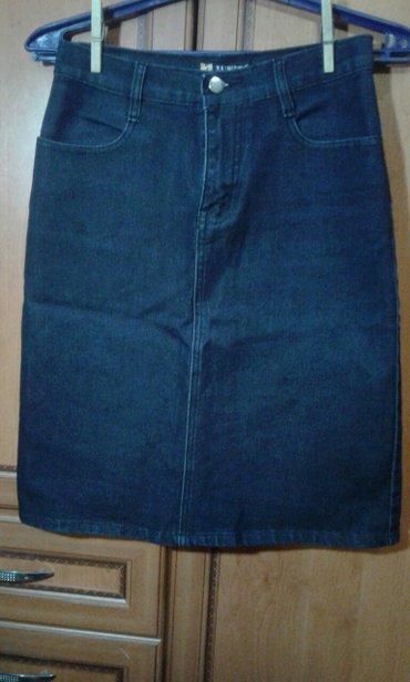 Продаю юбку джинсовую стрейч новую без этикетки 300 сом.размер M. в Бишкек