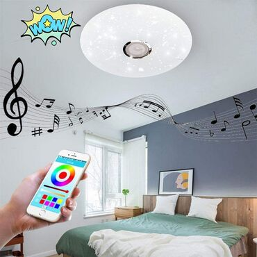 Cena 4600 dinBluetooth plafonska led lampa sa zvucnikomJacina 120 wati