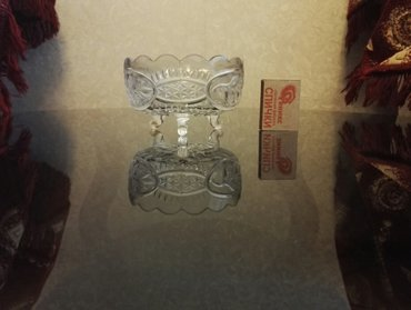 Bakı şəhərində Хрустальная конфетница. диаметр: 11,5 см. высота  :  7 см- şəkil 3