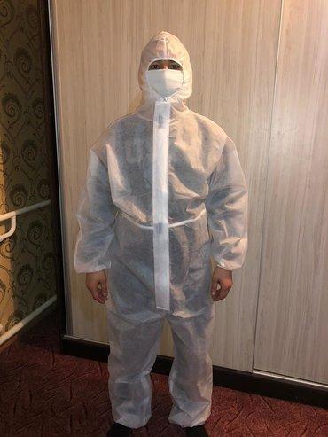 медицинские одноразовые халаты в Кыргызстан: Комбинезон изготовлен из нетканого безворсового материала а также хала