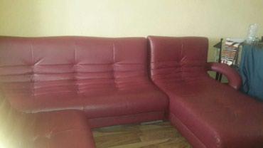 Продается кожаный диван. в Bakı