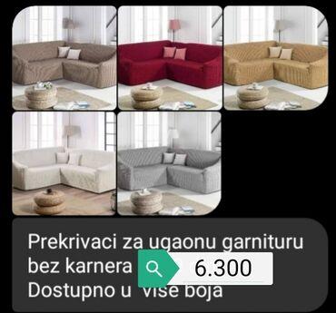Drzaci za carape - Vrnjacka Banja: Navlake za ugaonu garnituru
