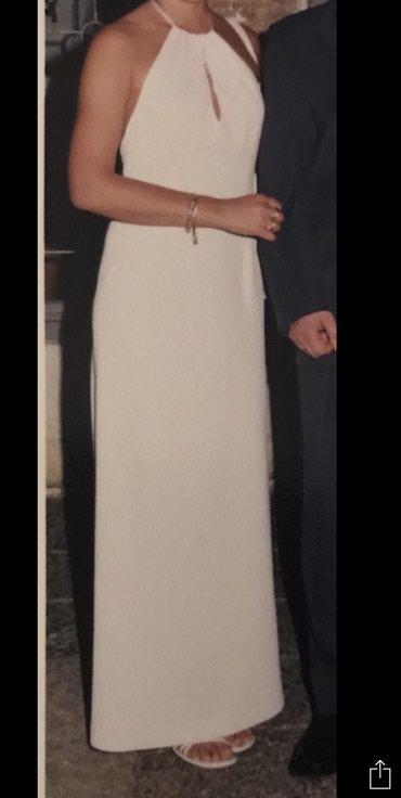 Haljina-bela-duga-cm - Srbija: Elegantna bela duga haljina. Vezuje se satenskom trakom oko vrata i