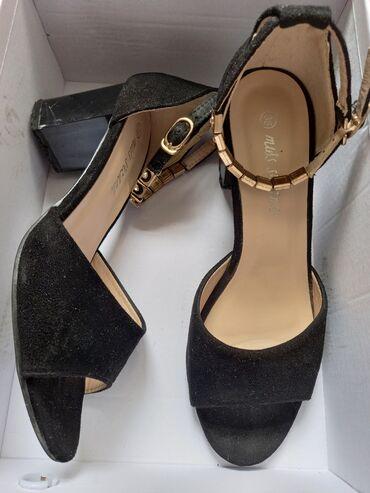 Туфли-босоножкиРазмер: 38Цвет: Чёрный Качество: 9/10Цена: новая цена