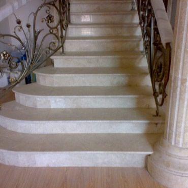Лестницы из мрамора, полы из мрамора и в Бишкек