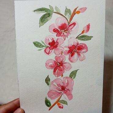"""Рисунок """"Сакура""""Картина подарок для души!Самый креативный и"""