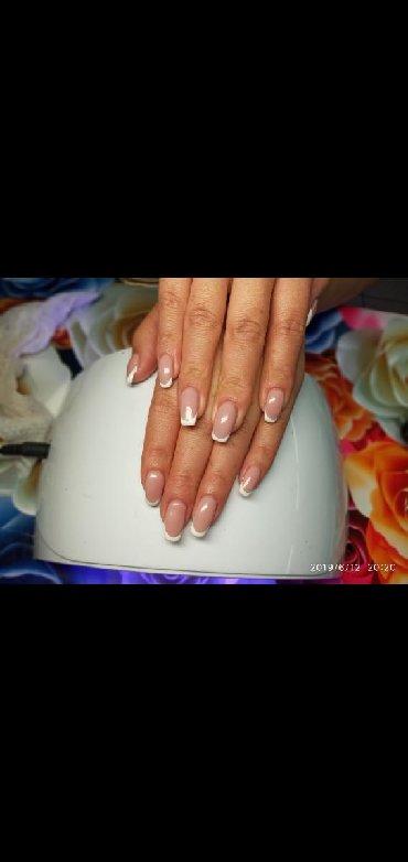 шеллак маникюр наращивание ногтей в Кыргызстан: Маникюр Шеллак Маникюр Шеллак наращивание ногтей (типцы гель ) 650сом