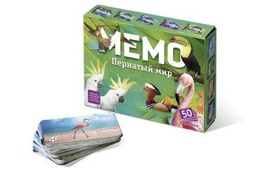 """Настольная игра Мемо """"Пернатый мир""""Компания """"Okitoys"""" интернет -"""
