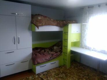 20 объявлений: Продаю детскую стенку. Очень удобно шифонер, двухъярусная кровать, и