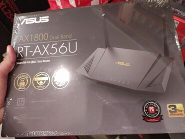 connect - Azərbaycan: ASUS RT-AX56U AX1800 Dual Band WiFi 6 Router wifi router modemOperativ