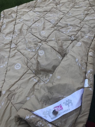 двуспальное одеяло из шерсти в Кыргызстан: Шикарное одеяло натуральное из верблюжей шерсти! Турция! Фирма ТАС! От