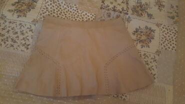 Kozna suknjica Zara kvalitetna kupljena u Italiji VEL S