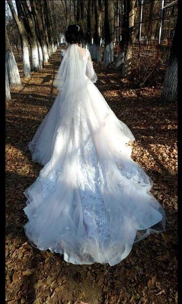 свадебное платье футляр в Кыргызстан: Свадебные платья пракатка берилет 5000 сом комплект фата колцо карона