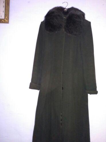 Пальто - Бишкек: Пальто пр.турция,раз.54,в хорошем состоянии,т.зеленый цвет, всего 800
