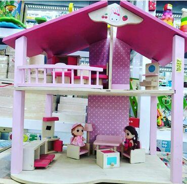 r 44 46 в Кыргызстан: Детские игрушки.Домик деревянный высота 44 см длина 46 см и ширина 26