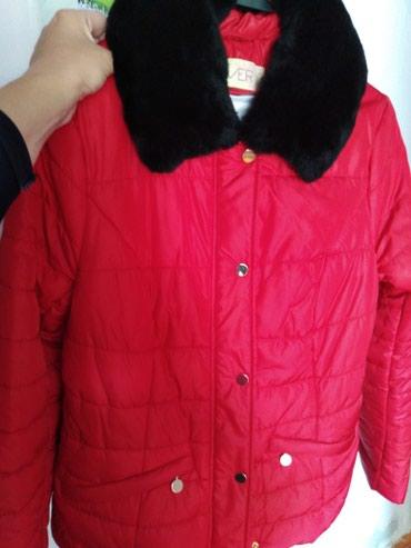 Куртки - Кок-Ой: Продам качественную женскую деми курточку алого цвета. смотрится очень