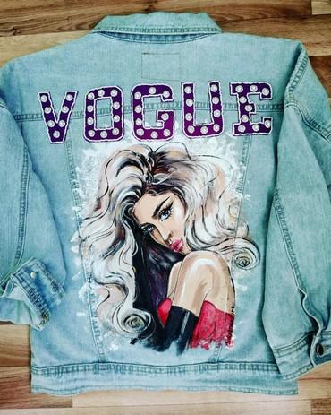 Продаю джинсовую куртку, расписанную вручную, с вышитыми объемными бук