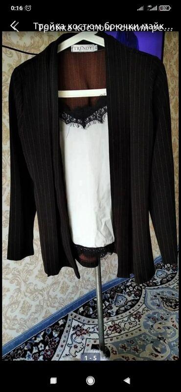 Тройка костюм Майка брюки +тонкий ремешки