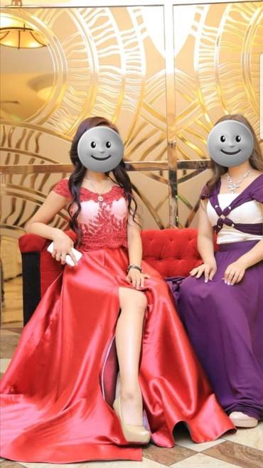 платье в пол с разрезом в Кыргызстан: ПРОКАТПлатье сшили на заказЦвет от красного до бордовогоКорсет +