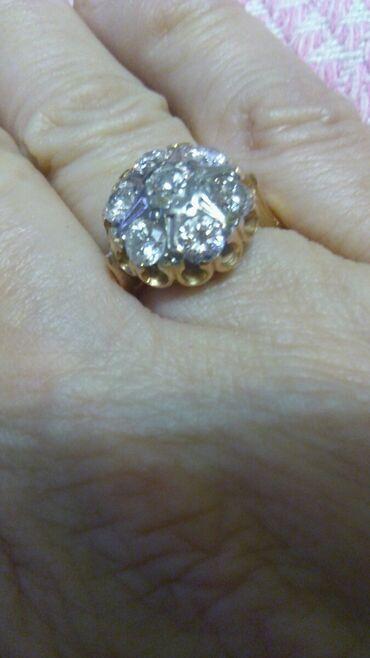 Продается золотое кольцо с бриллиантами советского производства, 583