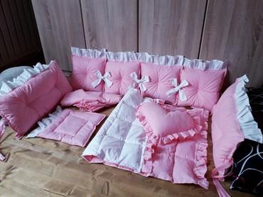 Ogradica za krevetac 100% pamuk,antialergijsko punjenje. - Beocin