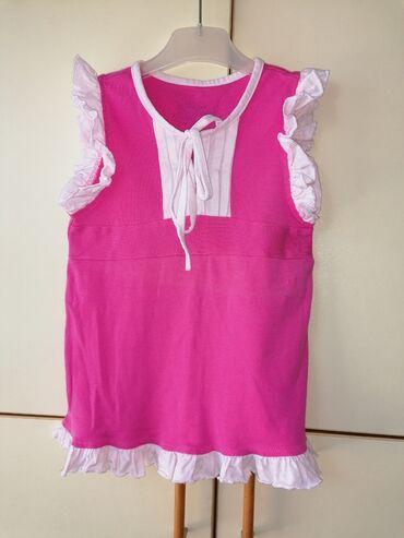 Dečiji Topići I Majice | Vrsac: Pamucna roze majca sa karnericima, (arilje), vel. 6