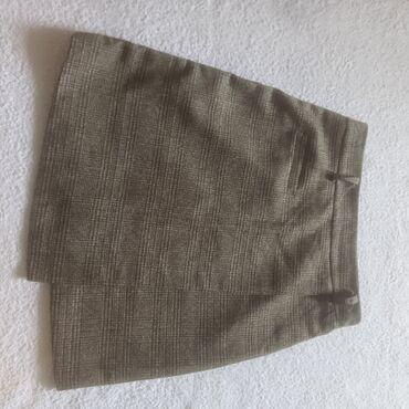 ЮБКА НА ЗАПАХ цвет :коричневыйткань :плотная, присутствует